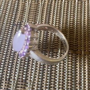 Jewelry - Sterling Silver amethyst end pink guartz ring